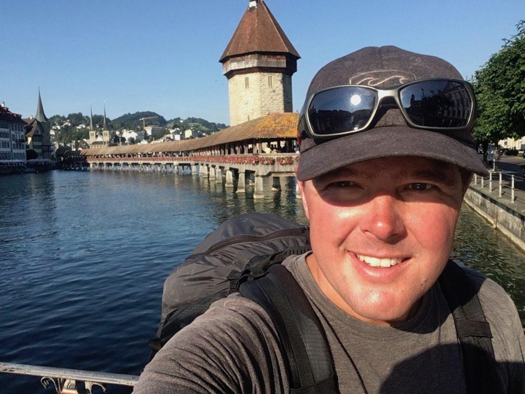 Sur le pont de Lucerne
